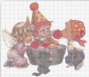 Схемы вышивки крестиком бесплатно для детей