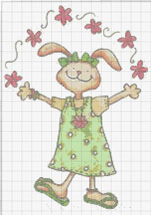 """Схема вышивки крестом """"Кролик"""